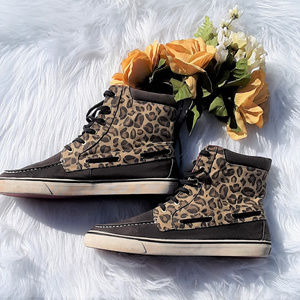 Sperry Topsider Leopard High-tops Sz. 11M